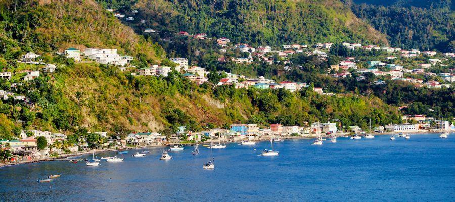 Impression von Roseau (Dominica)