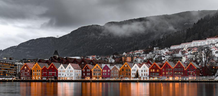 Impression von Bergen