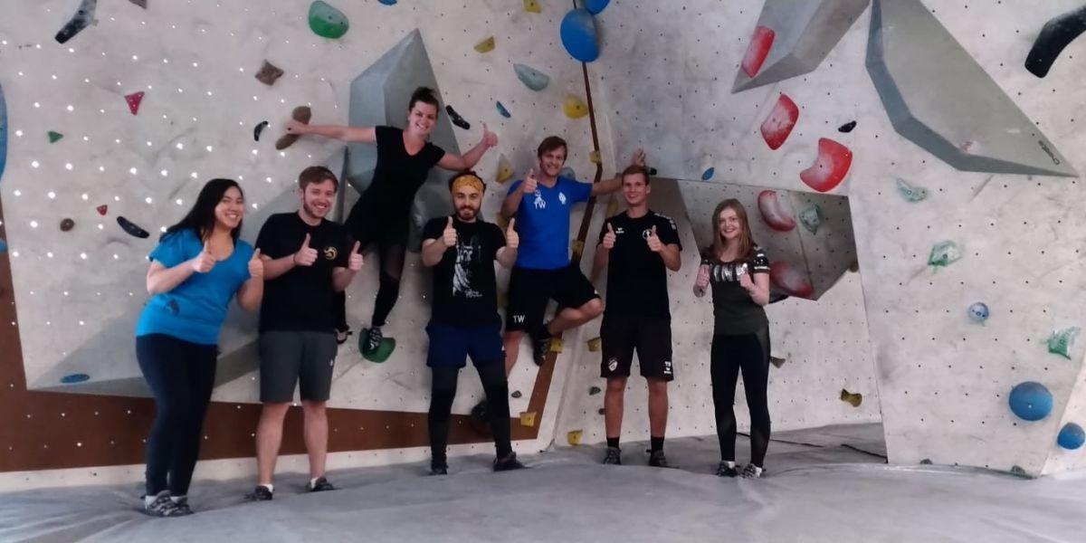 EURESA CRM Team in Boulderhalle