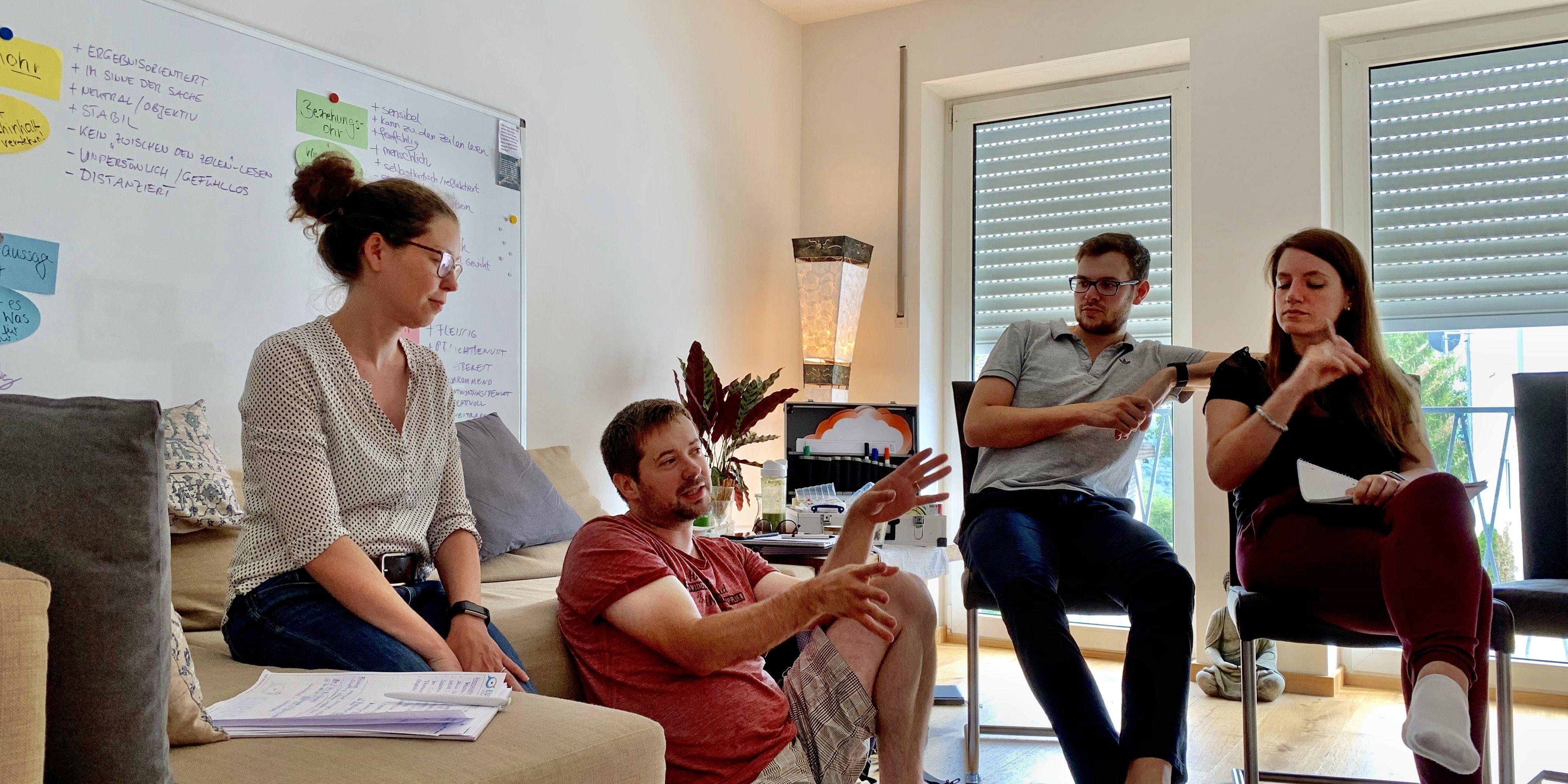 Diskussion beim Führungsworkshop