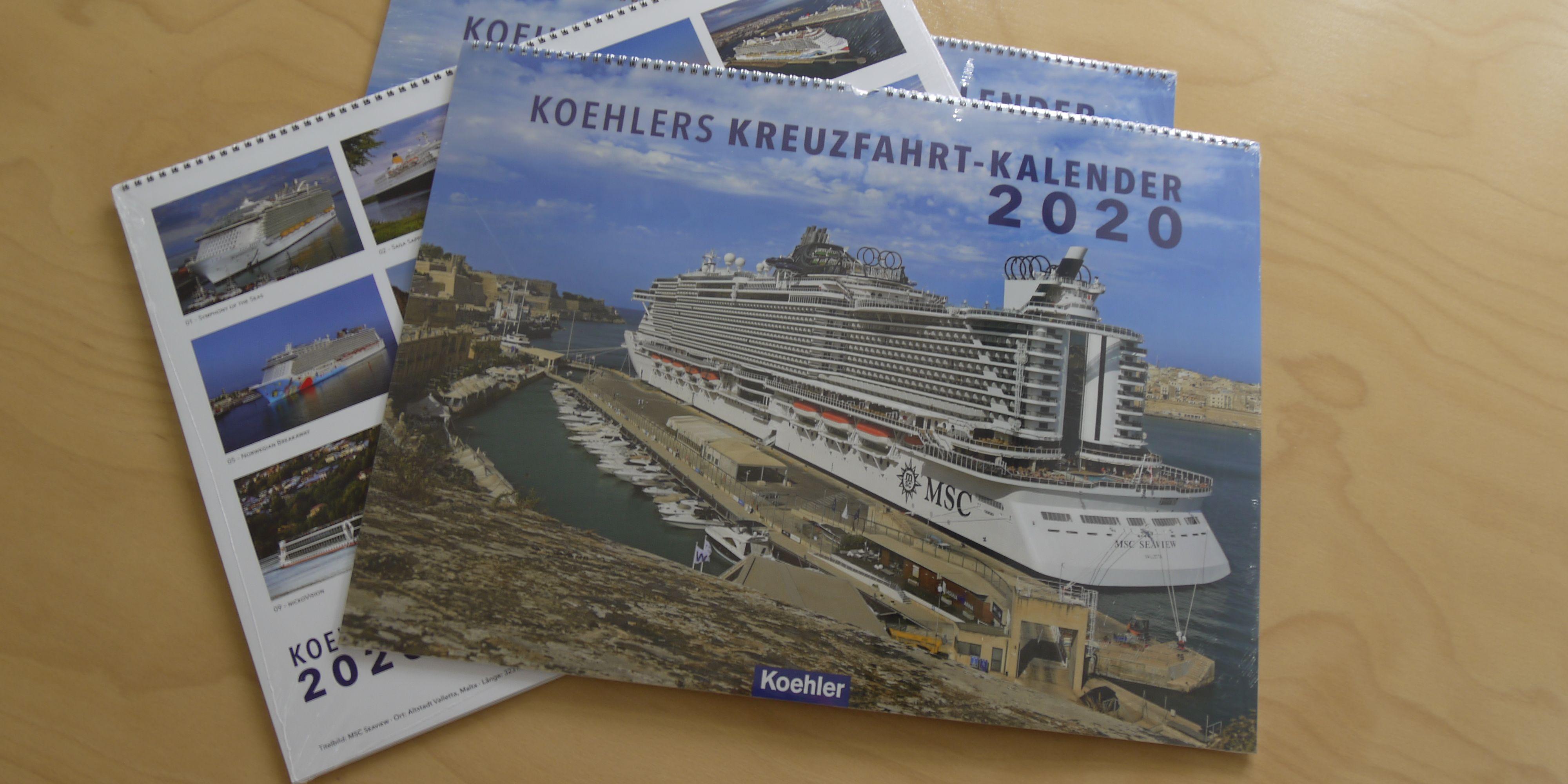 Köhler Kreuzfahrt-Kalender 2020