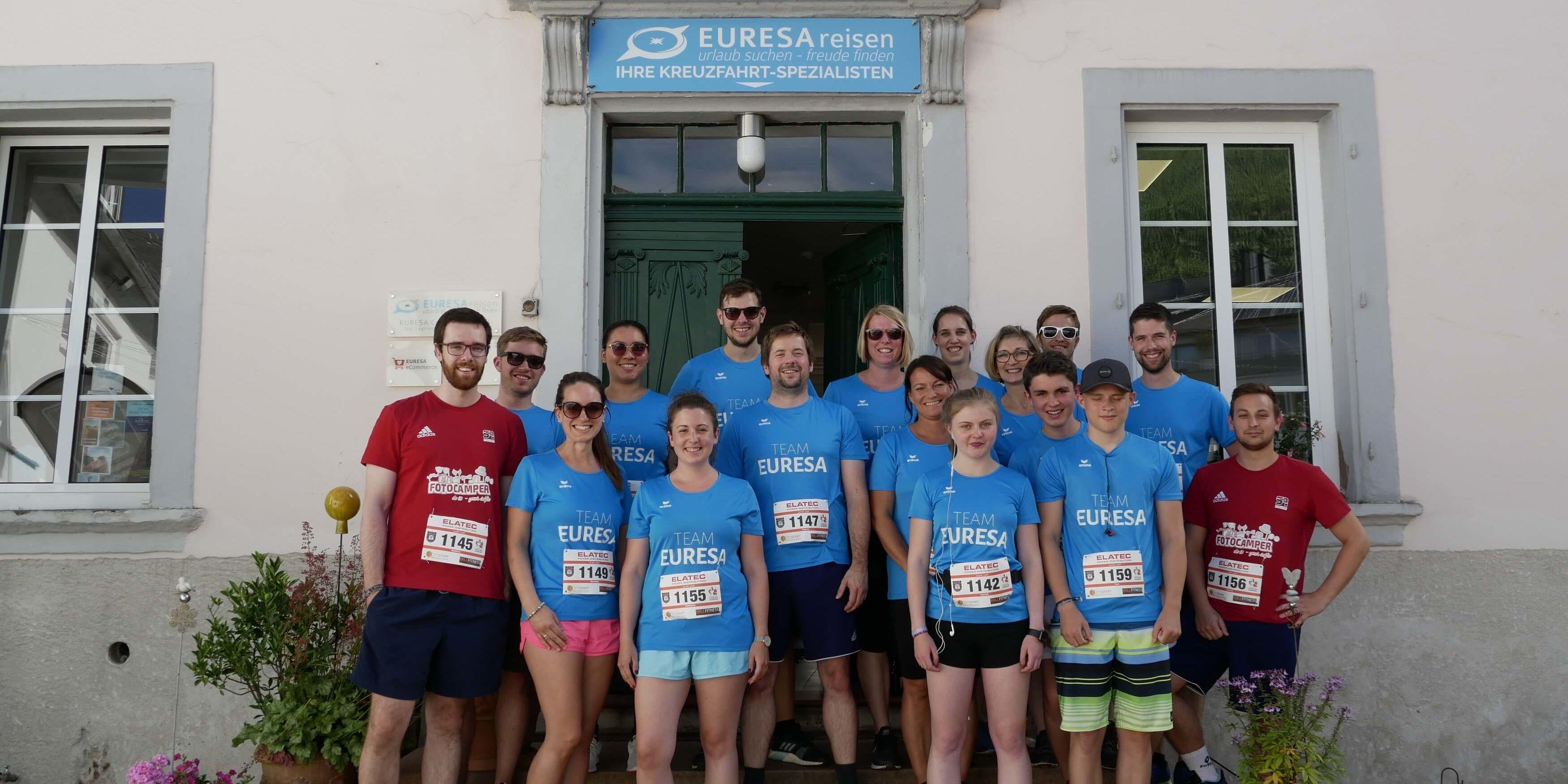 EURESAreisen Team vor dem Firmenlauf