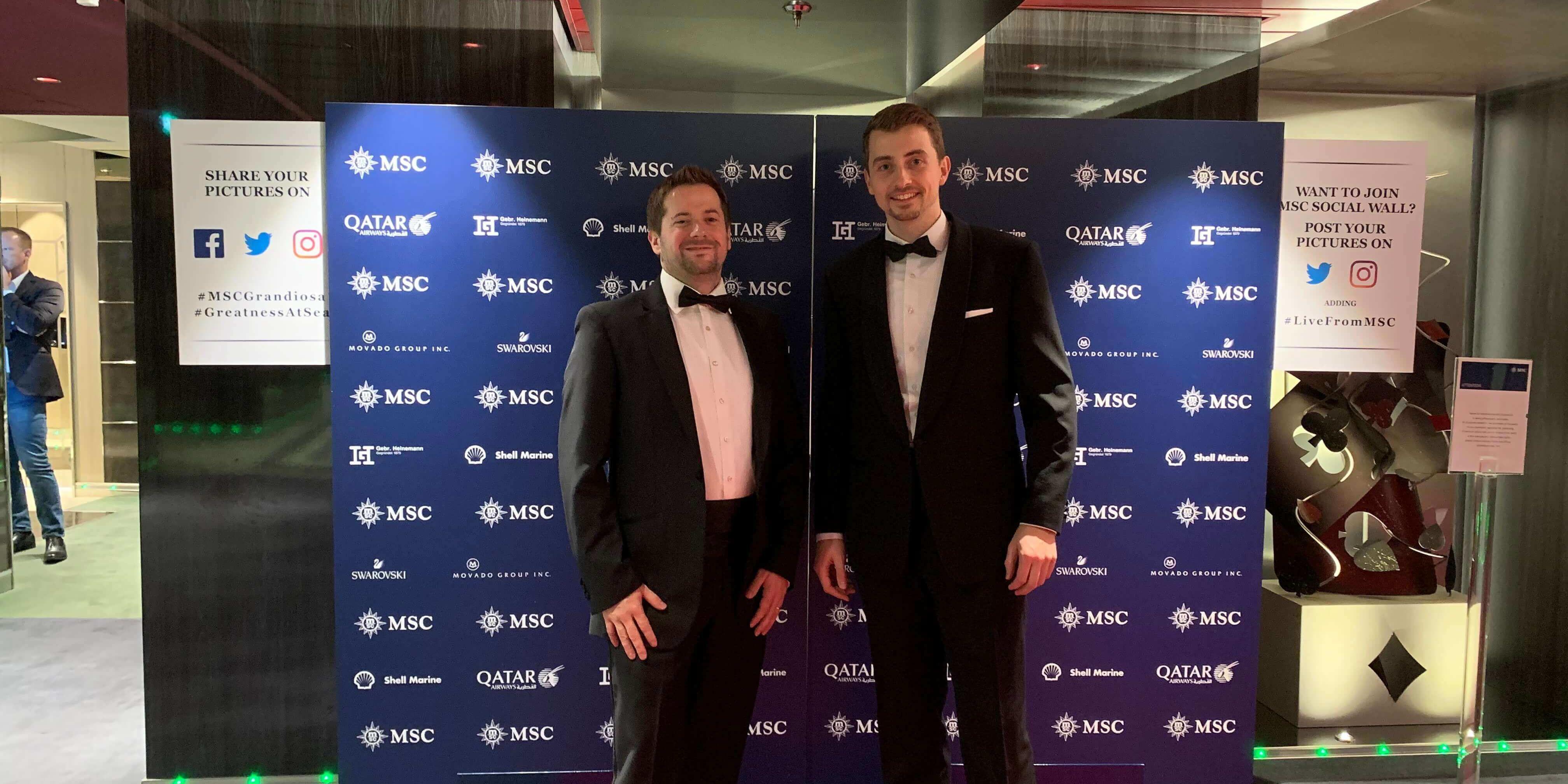 Patrick und Gregor auf MSC Grandiosa