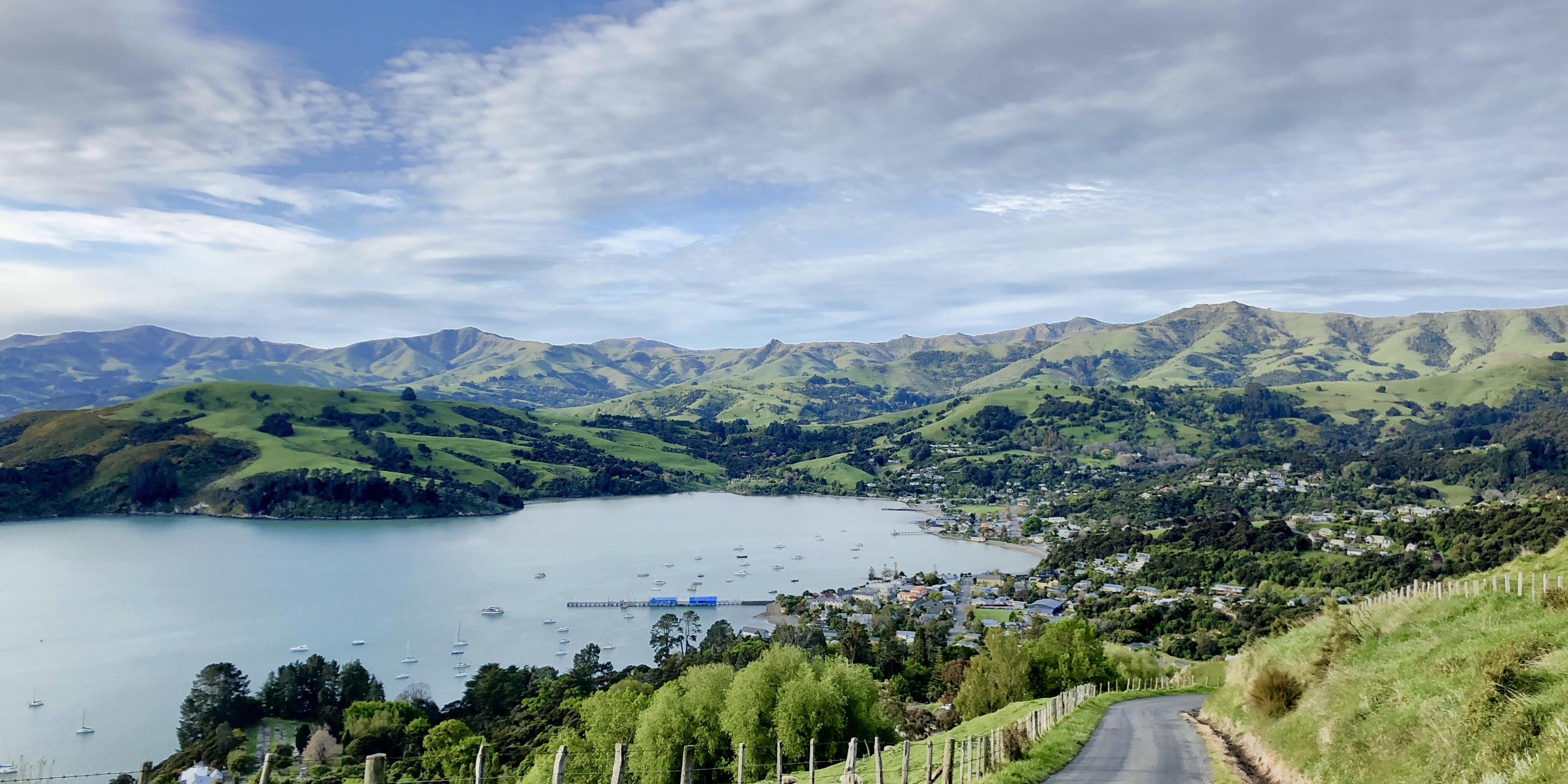 Blick auf Childrens Bay Neuseeland