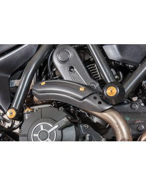 Exhaust pipe heat guard hold Ducati - matt carbon