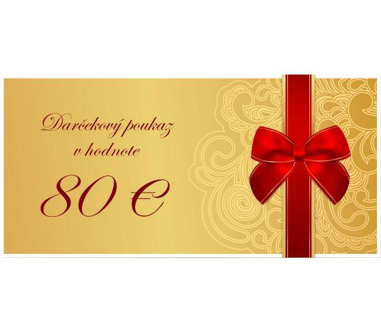 Darčekový poukaz 80€