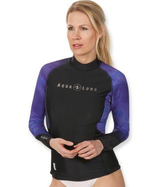 Aqua Lung Mens UV Sun Protection Long Sleeve Galaxy Rashguard