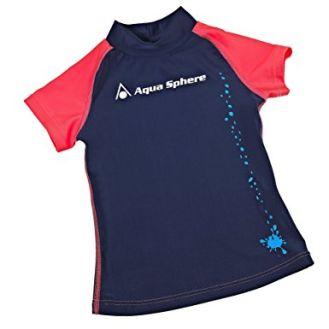 Aqua Sphere Rashguard Water Shirt Youth 12 Ocean Sun Swim Pool Rash Kids Toddler