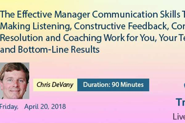 The Effective Manager Communication Skills Toolbox