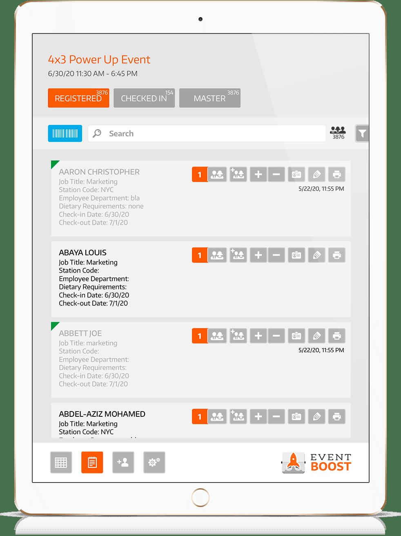 app para check in