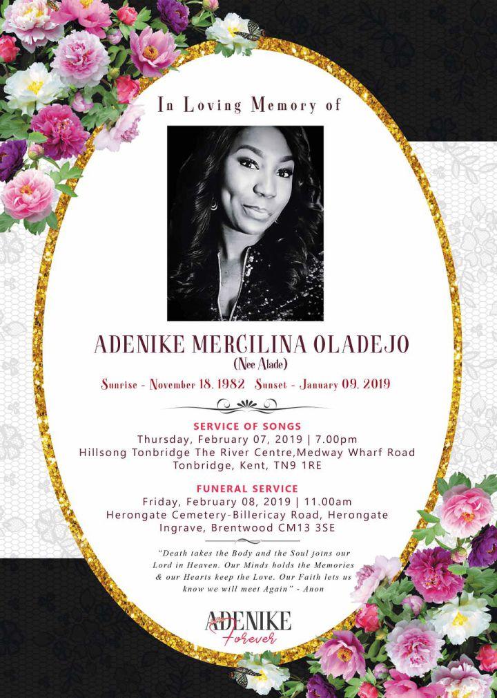 Adenike's Funeral Arrangements