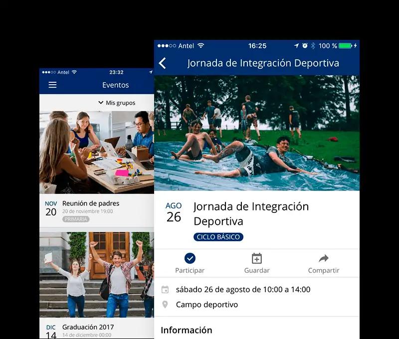 Eventos y actividades en tu propia App móvil