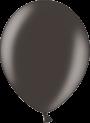 Helium Ballon 30cm metallic zwart