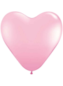 Helium Ballon Hart 30cm Roze
