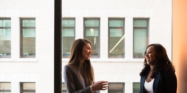 Women talking by the window