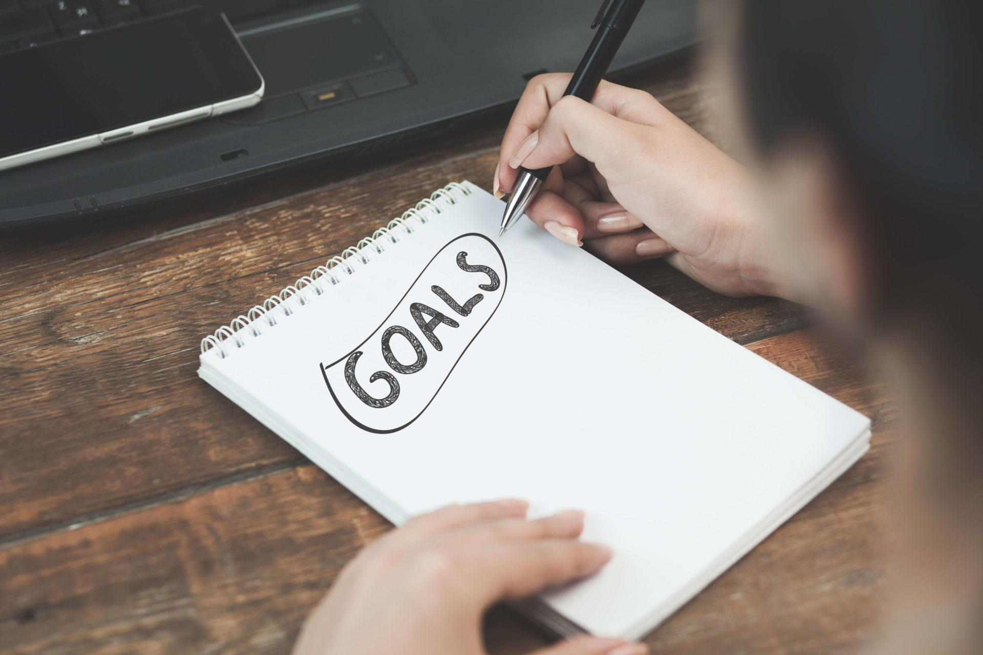 Classroom Goals - Notepad with Goals Written