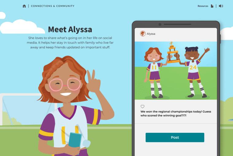 A screenshot from the digital wellness network.