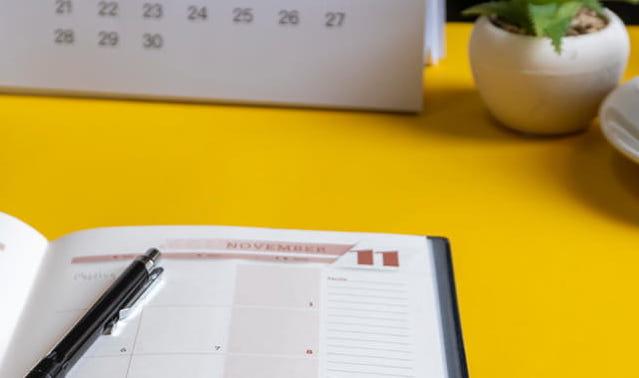 Seasonal marketing calendar