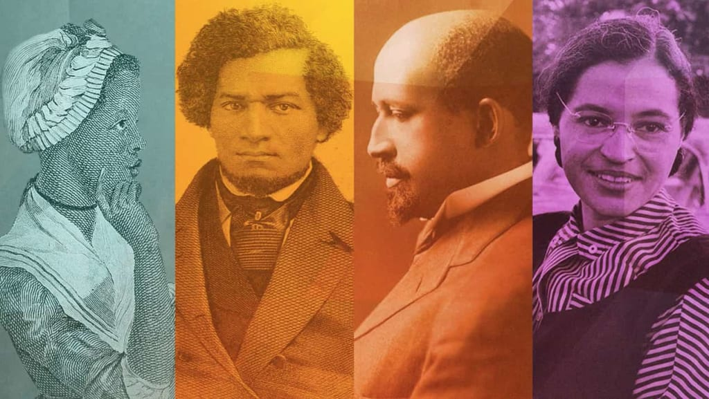 Screen capture of online course 306- African American History