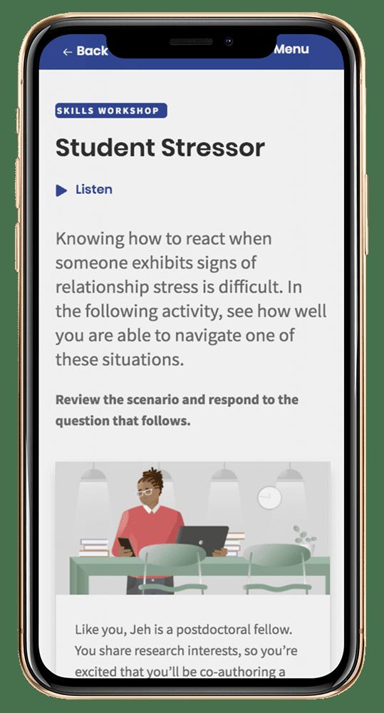 student-stressor-mobile-screen
