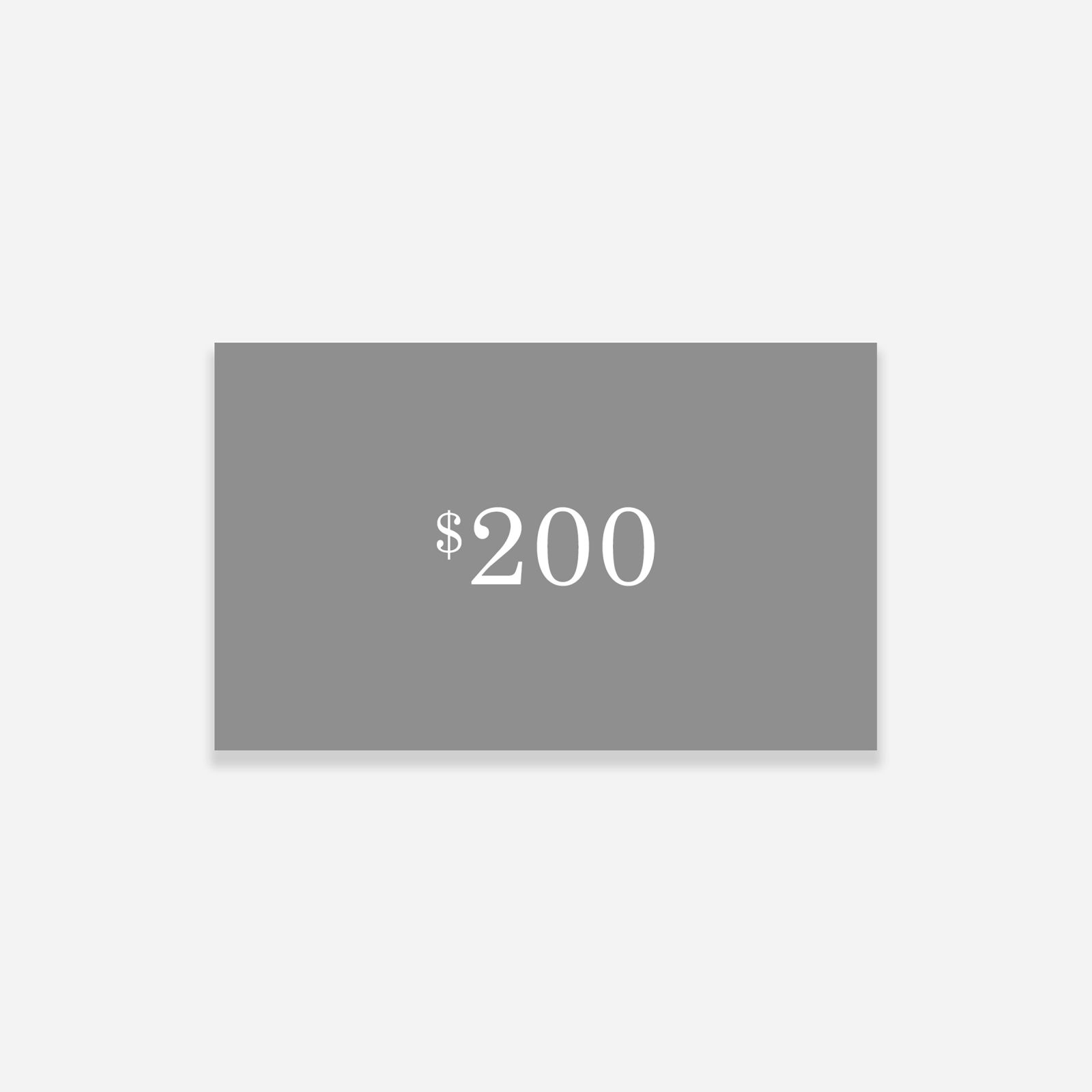 $200 gift card from everlane, physical or digital
