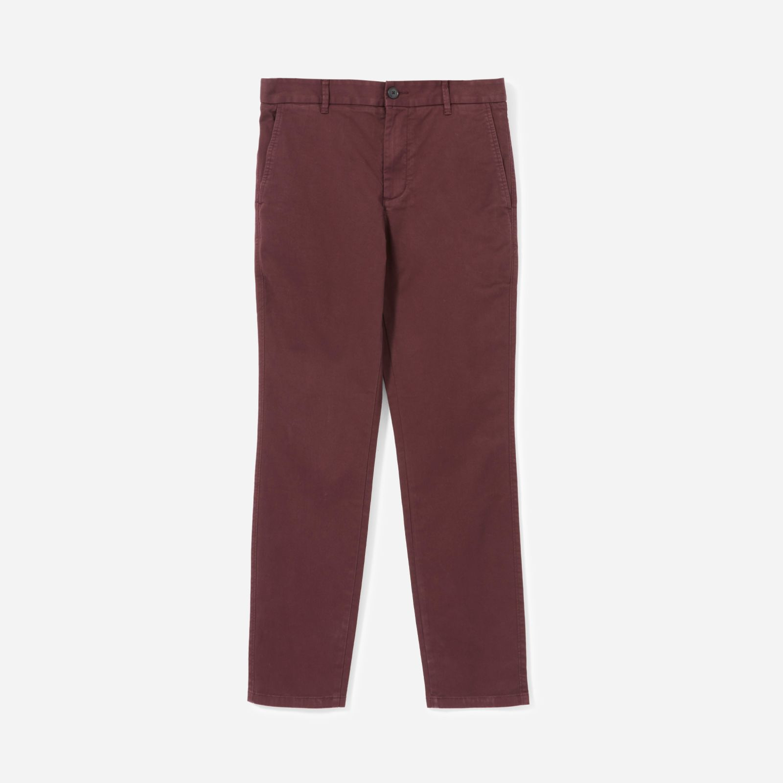 men's heavyweight athletic chino by everlane in burgundy, size 38x32