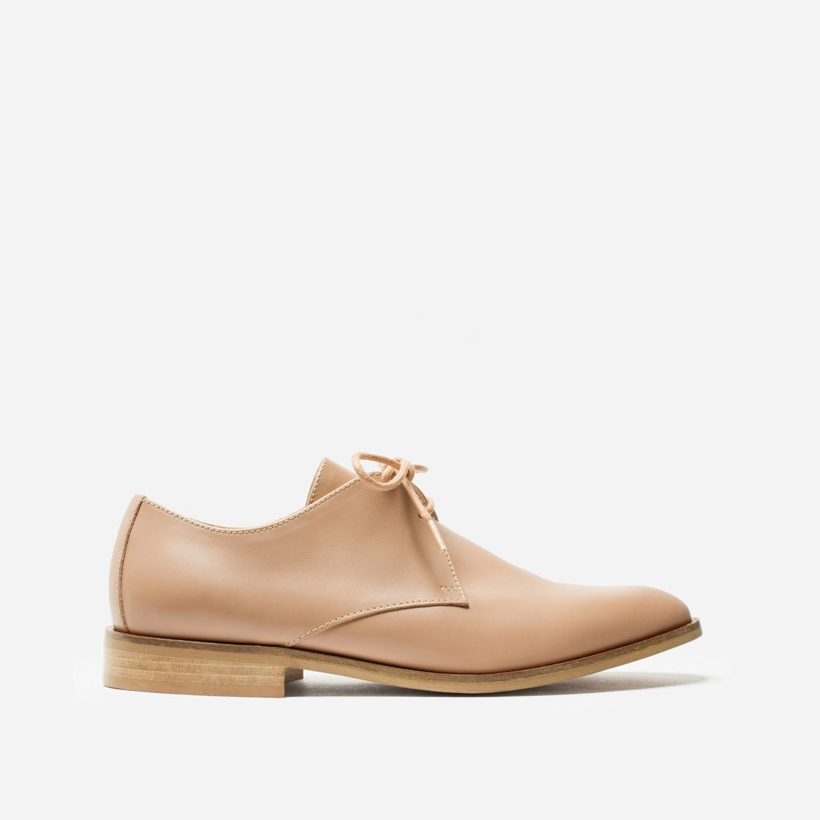 women's oxford shoes by everlane in blush, size 10.5