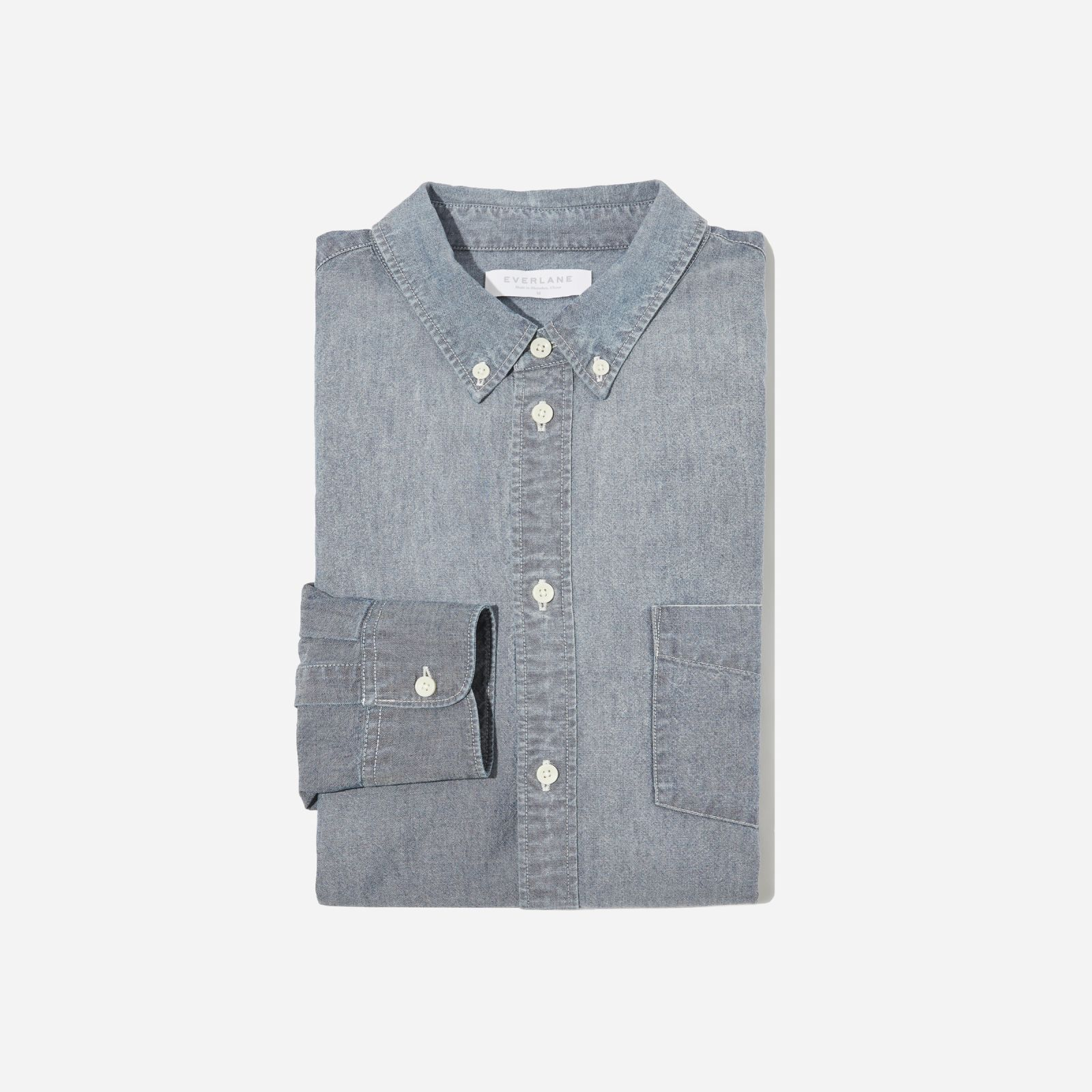 Men's Chambray Slim Fit Shirt