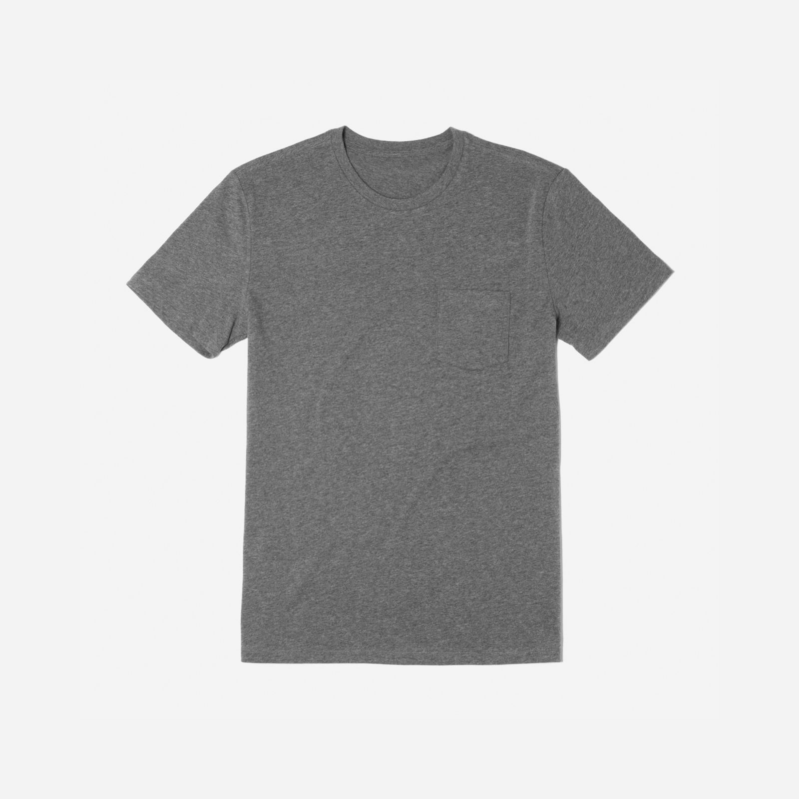 men's cotton pocket t-shirt by everlane in heather charcoal, size xs