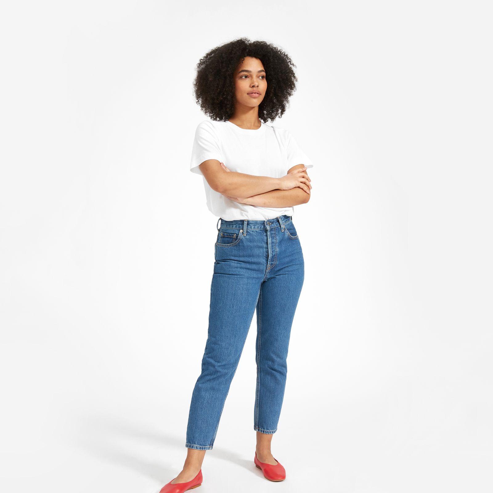 women's easy raglan t-shirt by everlane in white, size l