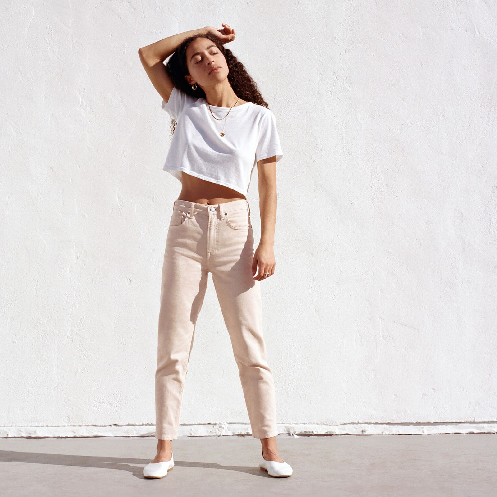 women's edition 01 straight jean by everlane in pale pink, size 33