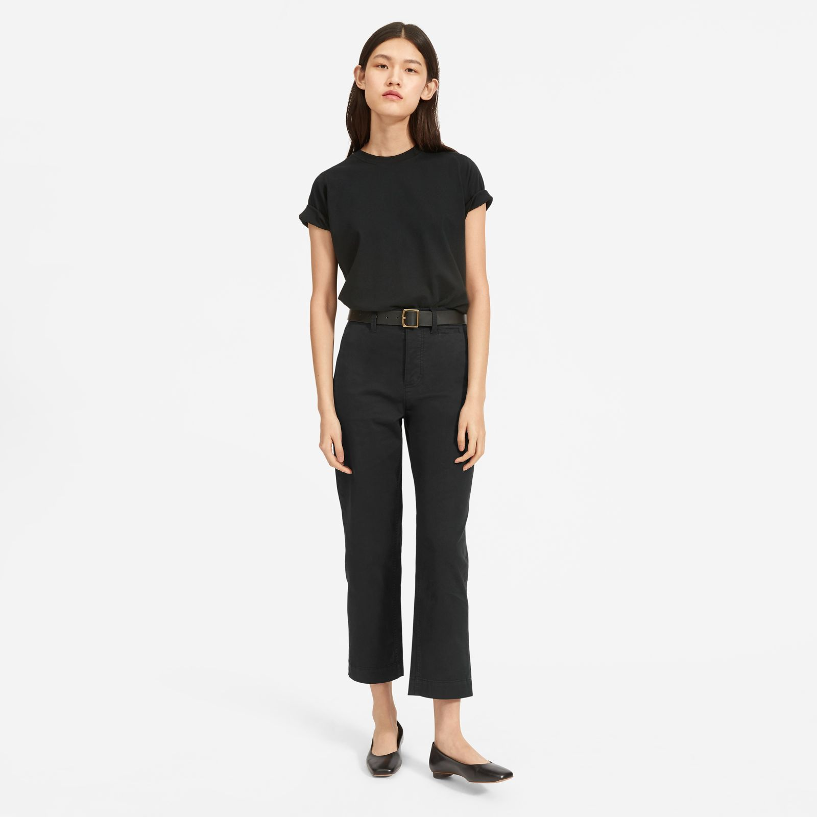 women's easy raglan t-shirt by everlane in black, size xl