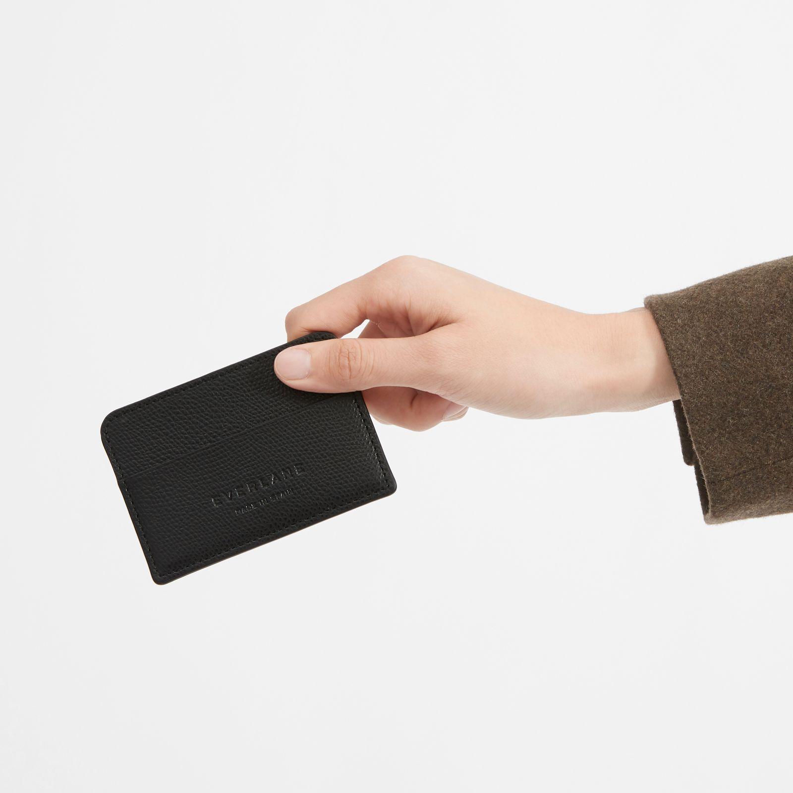 women's card case by everlane in black