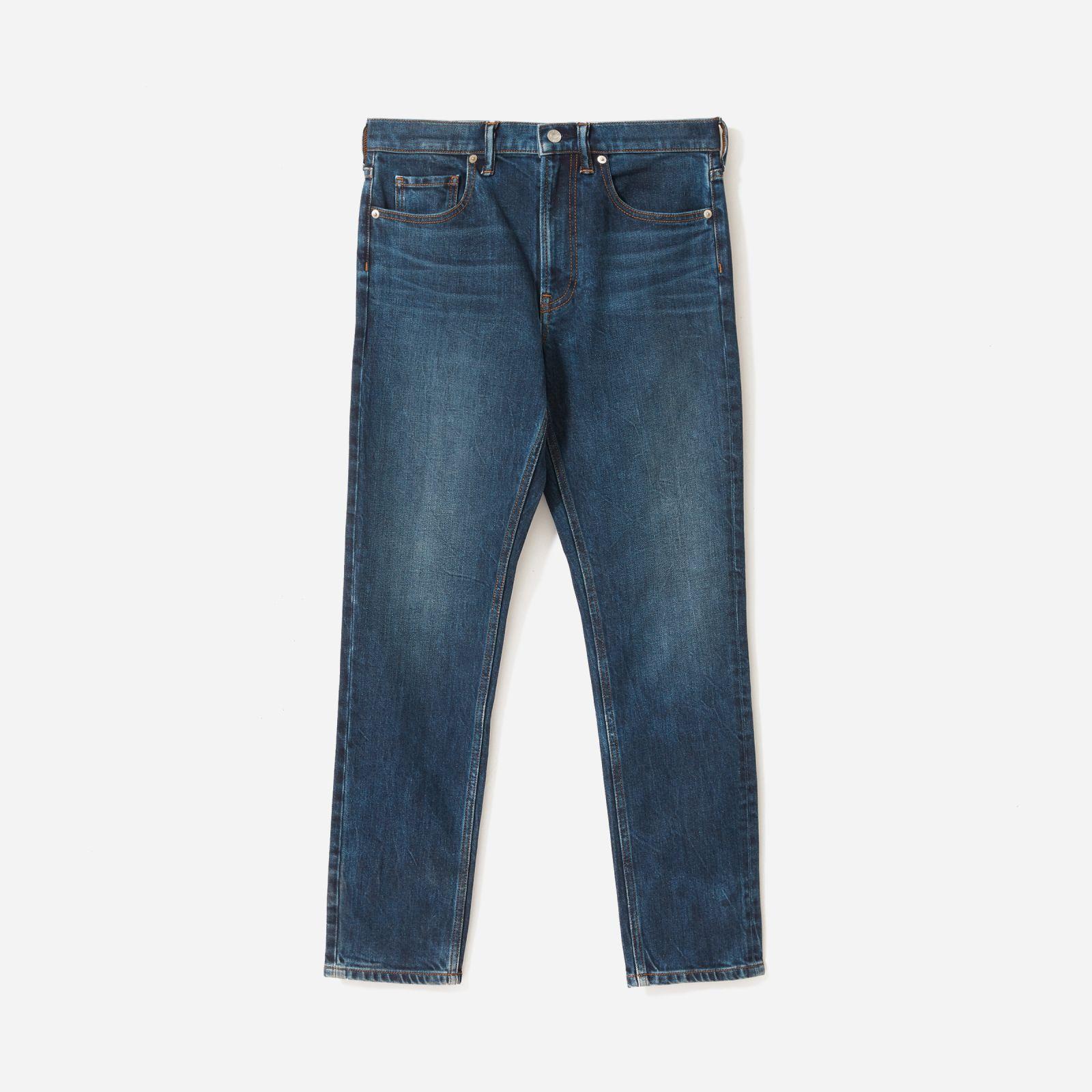 men's heavyweight slim jean by everlane in indigo wash, size 38x32