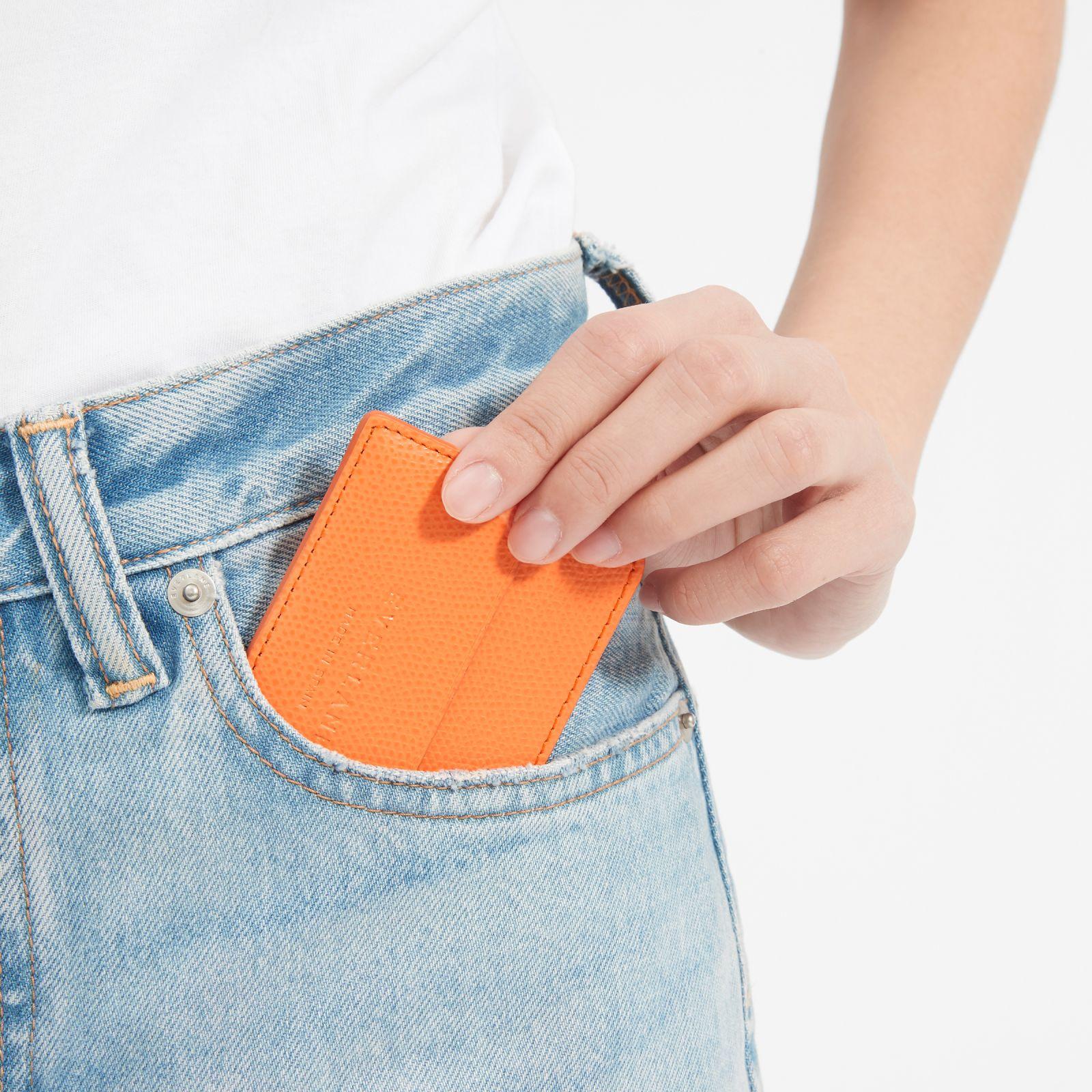 women's card case by everlane in orange