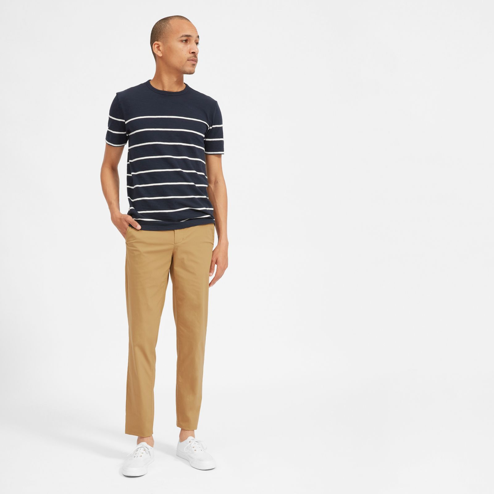 men's air chino by everlane in ochre, size 36x32