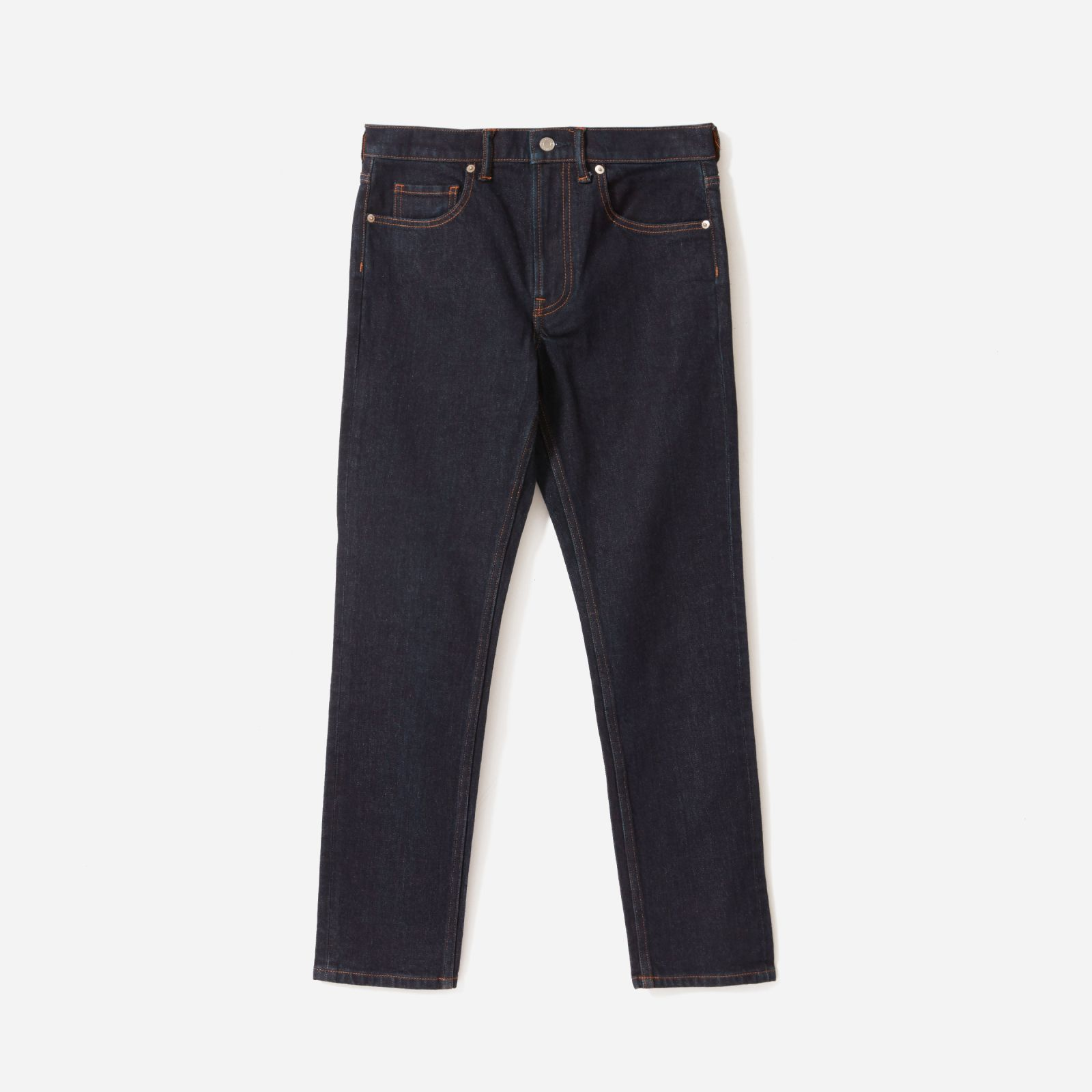 men's heavyweight slim jean by everlane in dark indigo, size 40x32