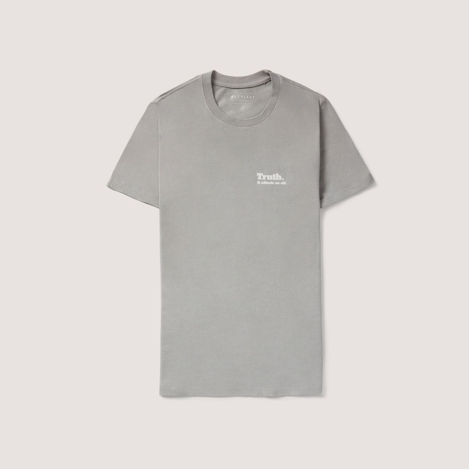 men's everlane 㗠new york times cotton crew t-shirt by everlane in pewter, size xl