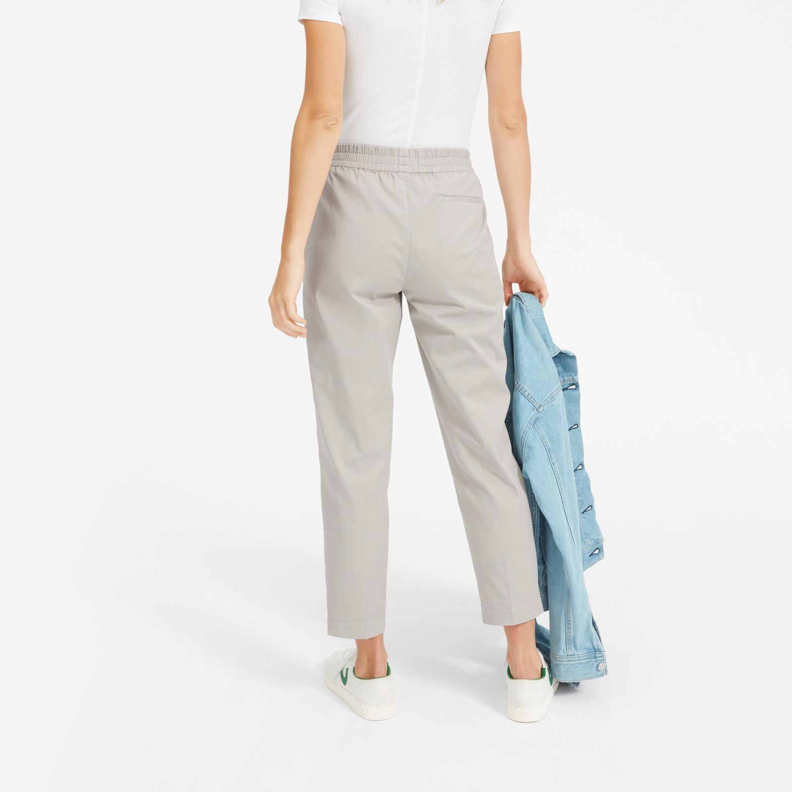women's easy chino by everlane in stone, size 16