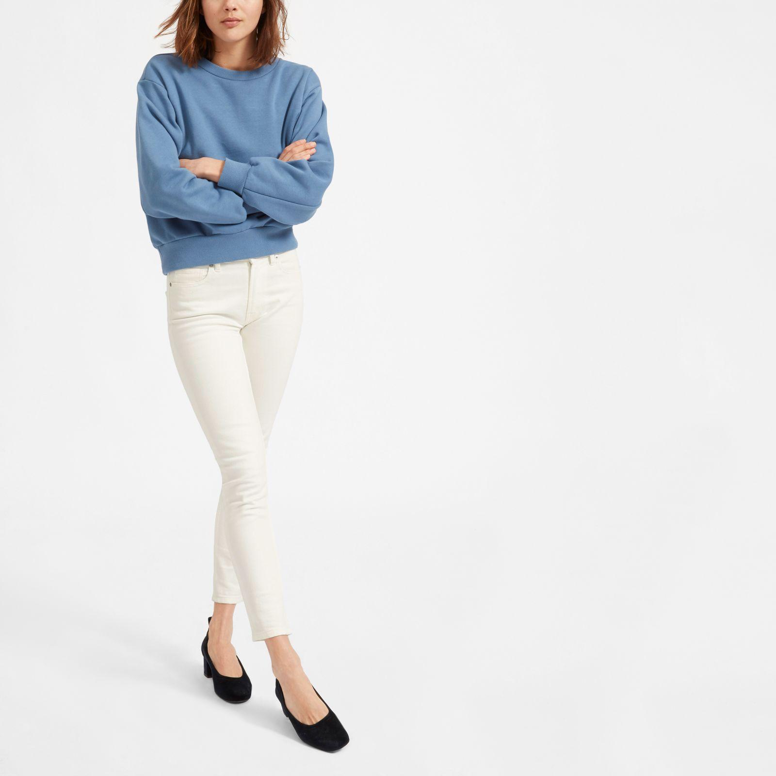 women's mid-rise skinny jean by everlane in bone, size 23