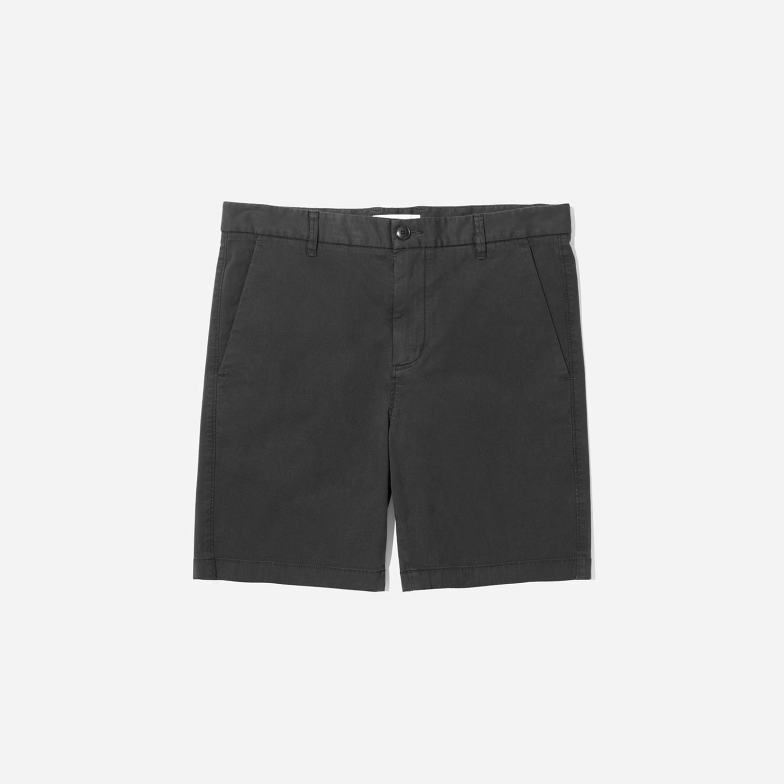 """men's midweight chino 7"""" slim short by everlane in washed black, size 36"""