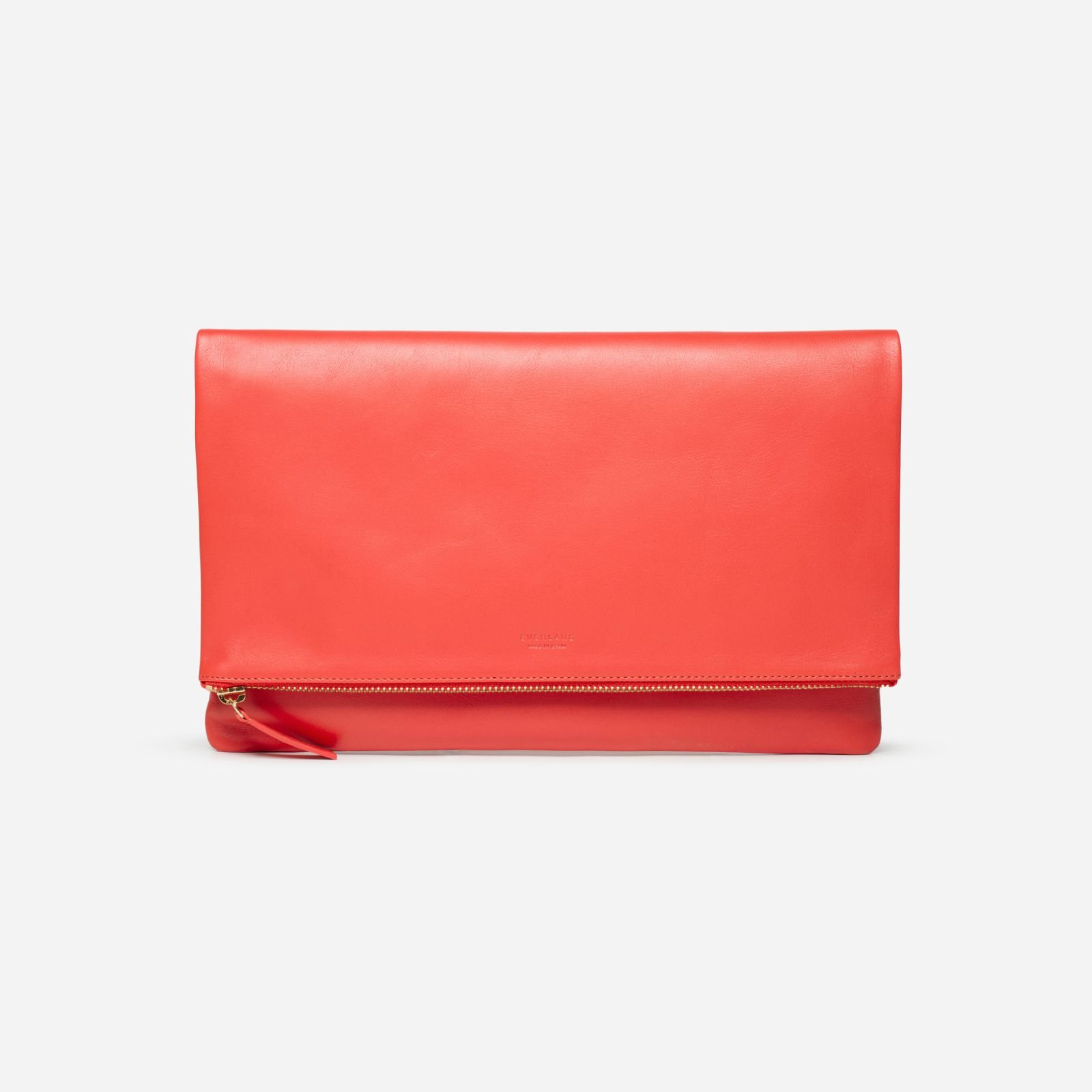women's foldover pouch by everlane in bright red