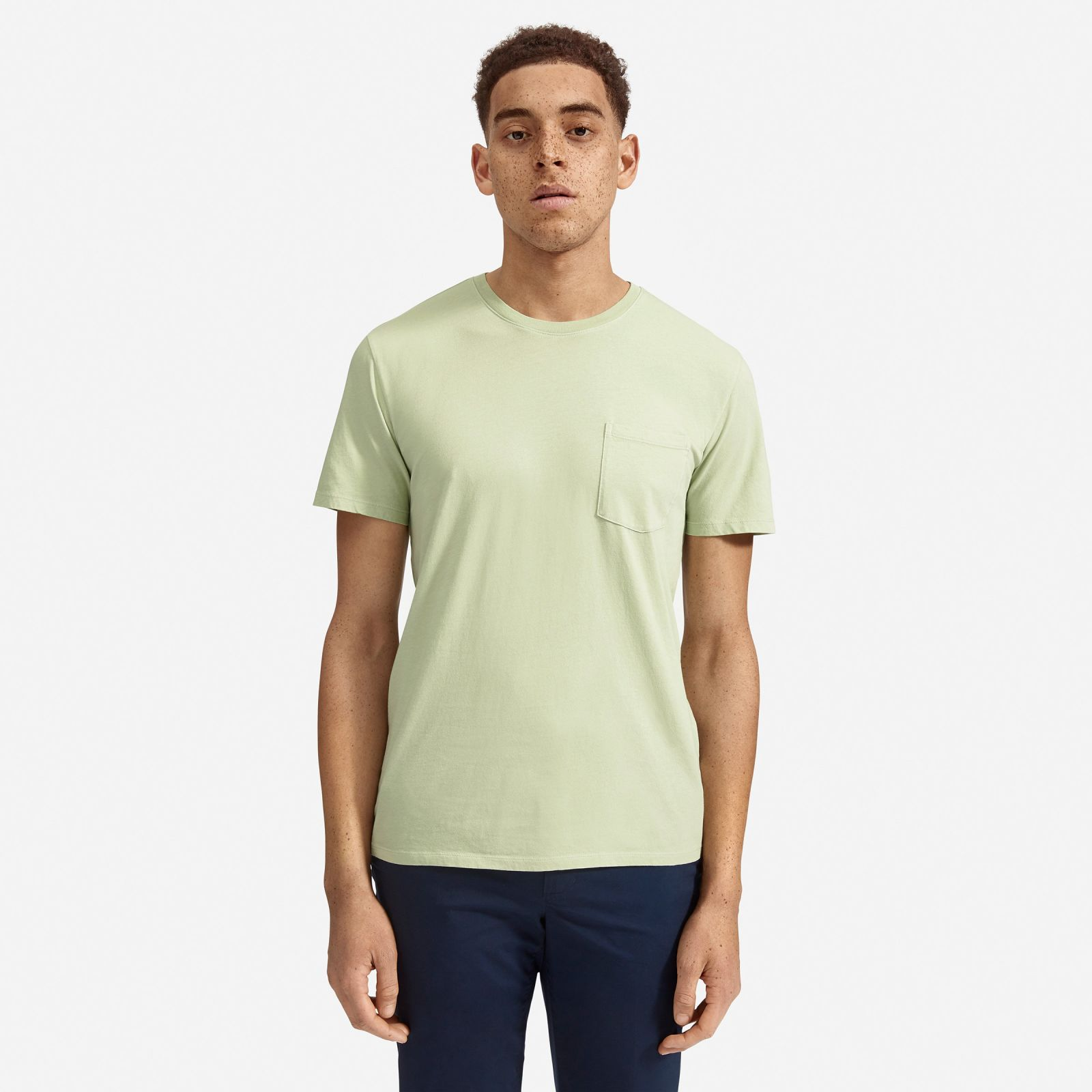 men's cotton pocket t-shirt by everlane in washed mint green, size xxl