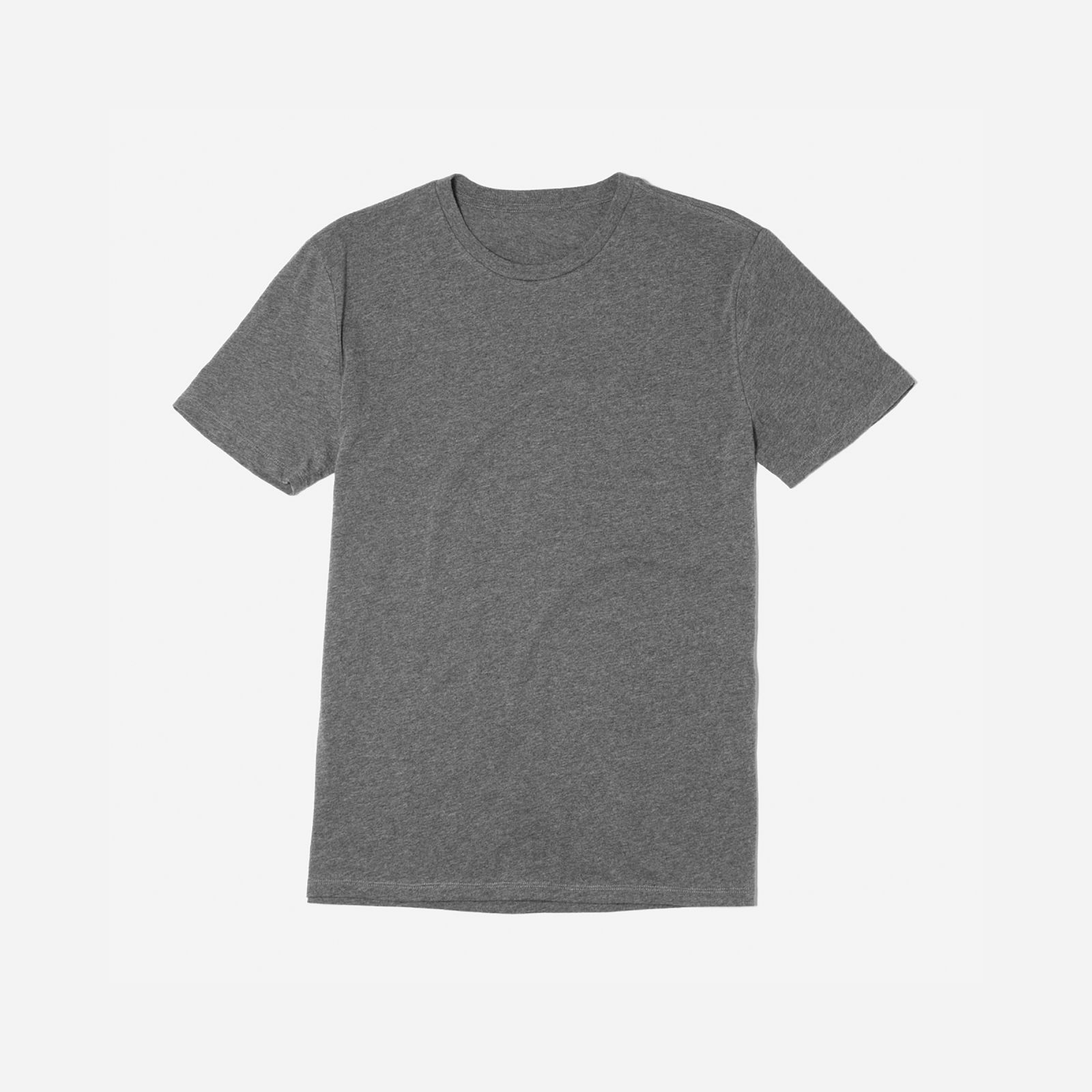 men's cotton crew t-shirt by everlane in heather charcoal, size xs