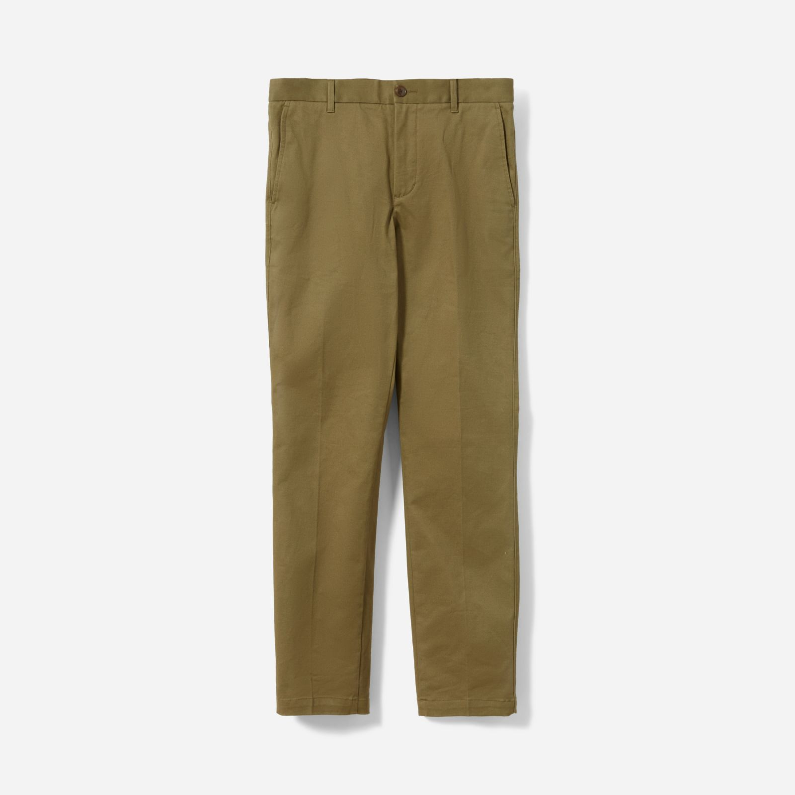 men's heavyweight straight chino by everlane in olive, size 40x32