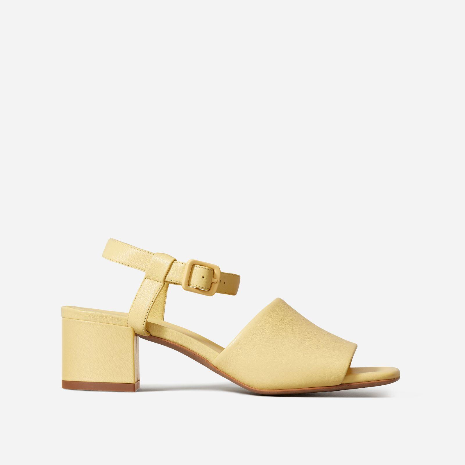women's block heel sandal by everlane in canary, size 11