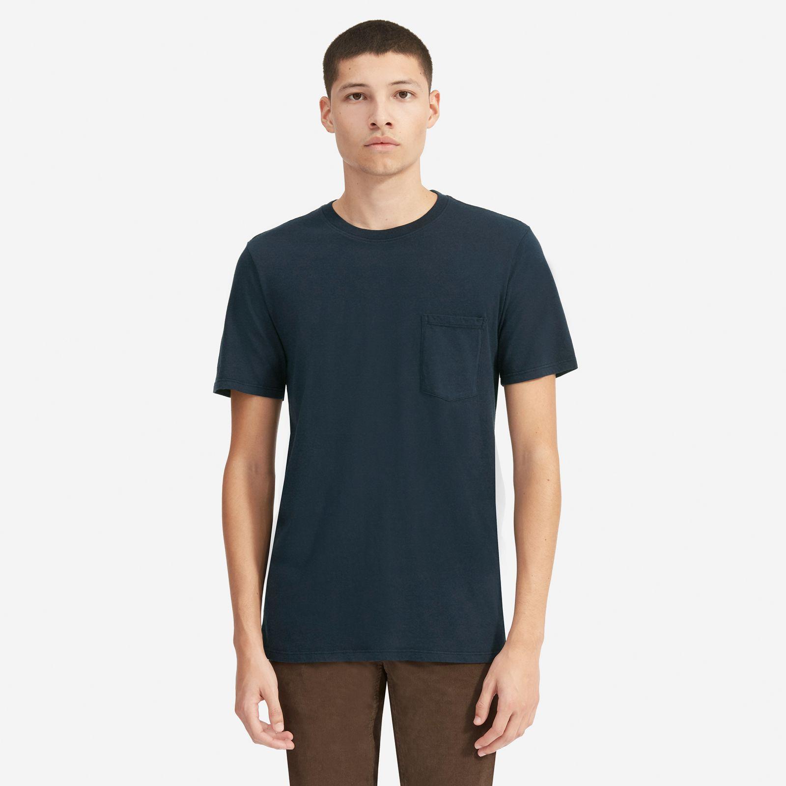 men's cotton pocket t-shirt | uniform by everlane in true navy, size xs