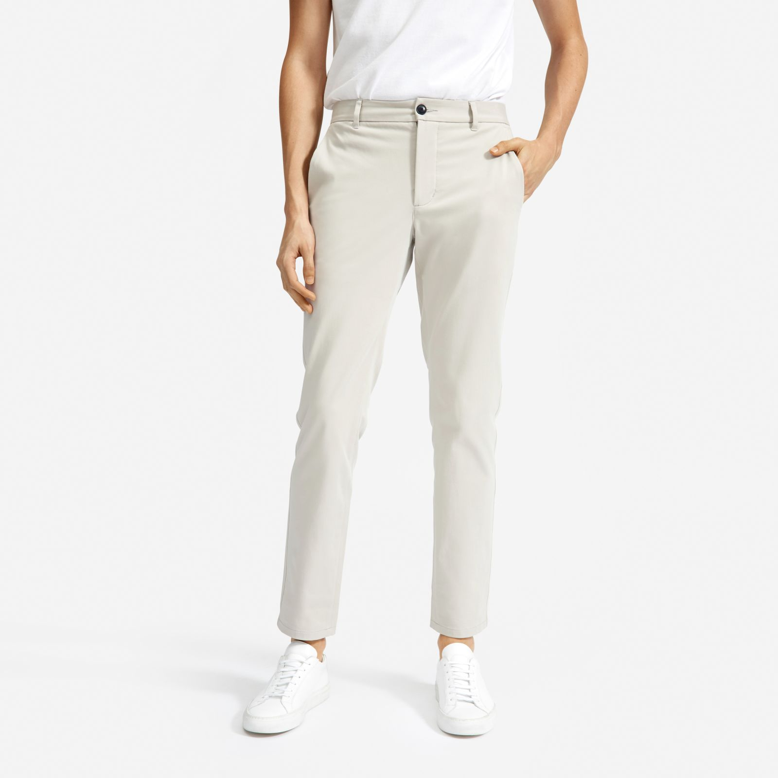 men's performance chino by everlane in stone, size 38x34