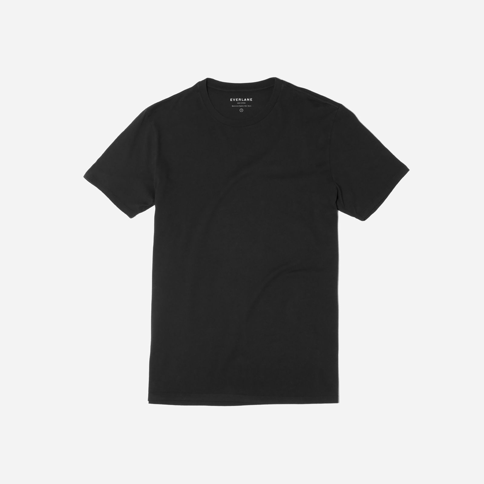 men's cotton crew t-shirt by everlane in true black, size xl