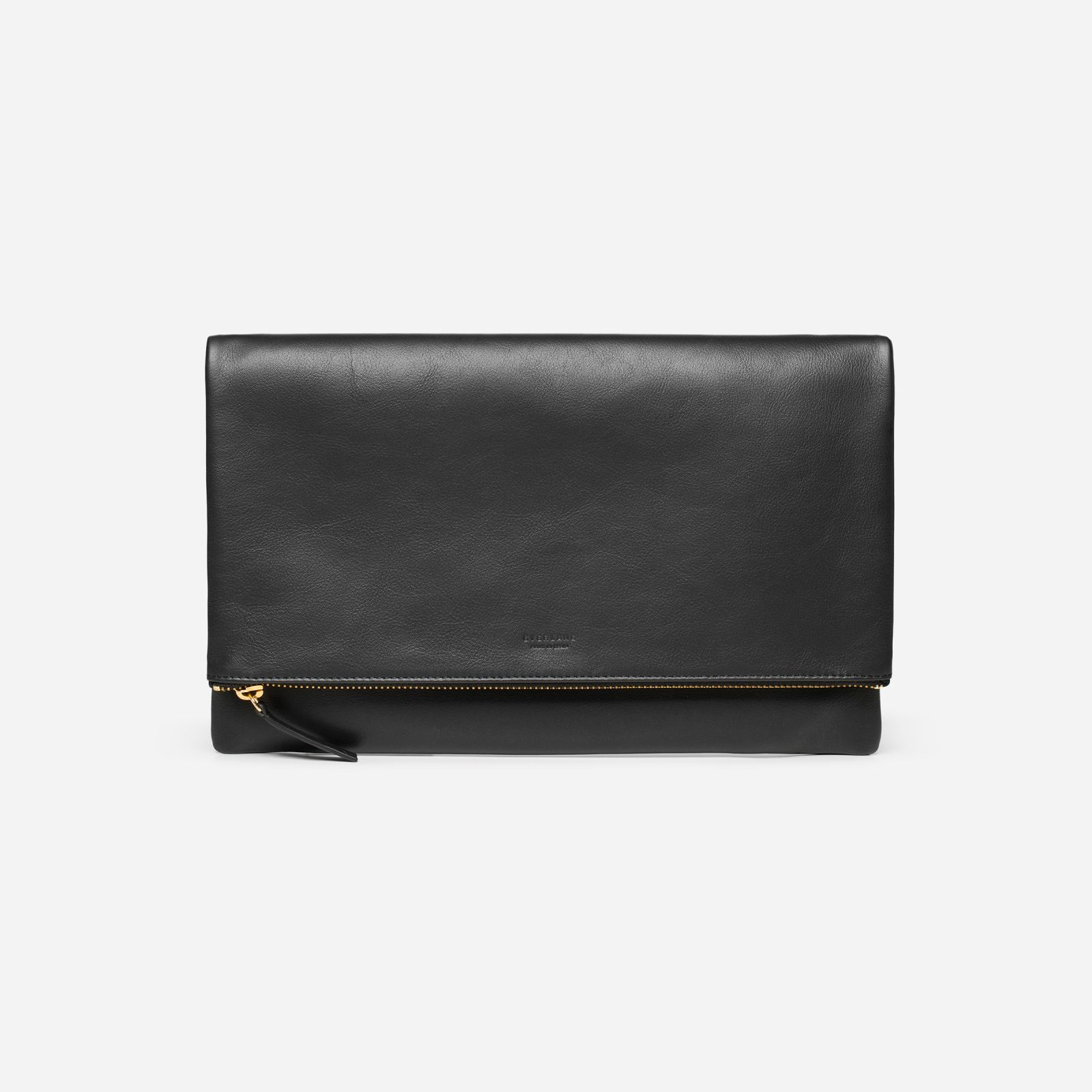 women's foldover pouch by everlane in black